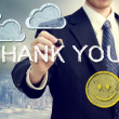 Royalty-Free Stock Photo: Business man drawing THANK YOU