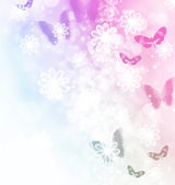 Blossoms and Butterflies Illustration — Stock Photo