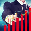 Businessman with Rising Graph — Foto de Stock