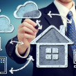 Cloud Computing at Home Concept — 图库照片