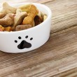 图库照片: Dog food in bowl
