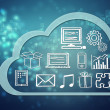 Stock Photo: Cloud computing concept icons
