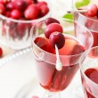 Cranberry juice with fresh cranberries — Stock Photo