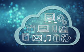 Cloud computing-concept pictogrammen — Stockfoto