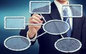 Podnikatel výkres vývojového diagramu — Stock fotografie