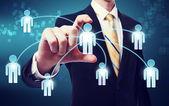 Sociala nätverk koncept — Stockfoto