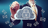 Secured Cloud Computing — Stock Photo