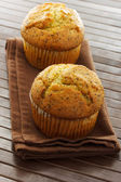 Delicious poppy seed muffins — Stock Photo