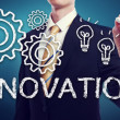 Business Man with Innovation Concept — Stock Photo