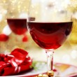 Decorated Christmas Dinner Table — Foto Stock
