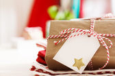 Handmade present boxes with tags — Foto Stock