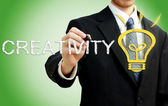 Zakenman met creativiteit concept — Stockfoto