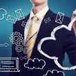 Connectivity through cloud computing concept — Stock Photo