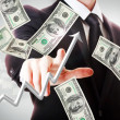 Business man with hundred dollar bills — Stock Photo #31637595