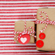 Stock Photo: Handmade craft gift boxes