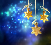 Christmas star ornaments — 图库照片