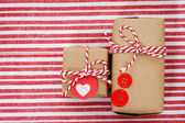 Handmade craft gift boxes — Stock Photo