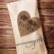 Happy Birthday gift box in a rustic earthy style — Foto Stock