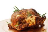 Pollo arrosto di vacanza — Foto Stock