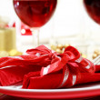 Decorated Christmas Dinner Table — Stock Photo