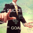 Success and creativity concept with businessman — Stock Photo