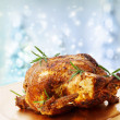 Roasted Whole Chicken with Rosemary — Zdjęcie stockowe