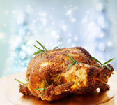 Roasted Whole Chicken with Rosemary — Stock Photo
