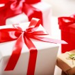 Gift boxes - assorted — Stock Photo