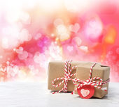 Small handmade gift boxes — Foto Stock
