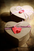 Small Handmade gift boxes — Стоковое фото
