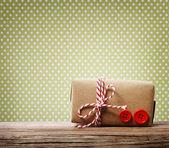 Handmade gift box — Stock Photo