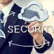 Stock Photo: Secure online cloud computing concept