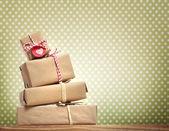 Handmade gift boxes — Stock Photo