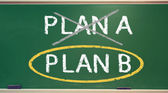 Plan B on a chalk board — Foto de Stock