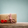 Hand made gift box — Stock Photo
