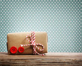 Hand made gift box  — Stock Photo