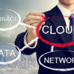 Cloud computing flowchart — Stock Photo