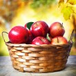 Stock Photo: Fresh apples in basket