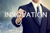 Homme d'affaires avec le concept d'innovation — Photo