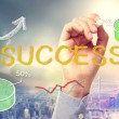 Stock Photo: Success concept text and cartoon