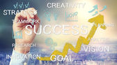 Success concept text and cartoon — Stock Photo