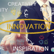 Stock Photo: Businessmwith business innovation concept