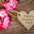 Stock Photo: Heart shaped mothers day card