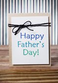 Fathers day message card — 图库照片