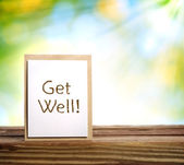 Get well message — Stock Photo