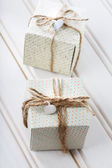Handmade small present boxes  — Stock Photo
