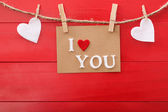 I Love You message card — Foto Stock