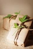 Caixas de presentes rústicas — Foto Stock