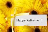 Happy Retirement card with yellow gerberas — Foto Stock
