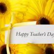 Happy Teachers Day message — Stock Photo #50317755